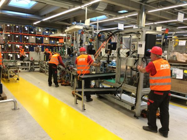 stěhování výrobního stroje